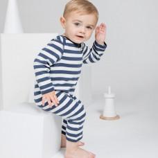 BABY STRIPE ROMPASUIT 100%C