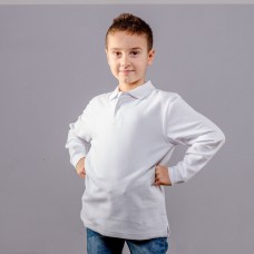 LS KIDS POLO WITH CUFFS 100%C