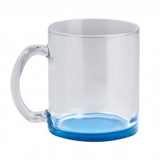 GLASS COLOR MUG - TAZZA IN VETRO CON FONDO COLORATO PC365